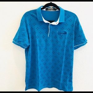 NWT Mens Clearance Polo turquoise blue shirt